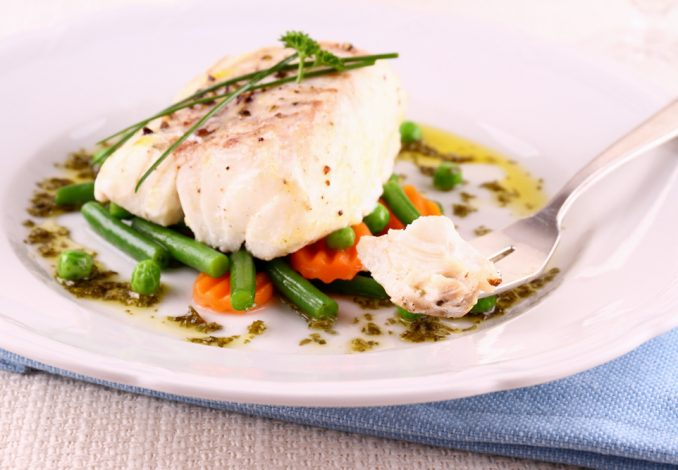 Baked Cod with Baby Potatoes and Green Beans