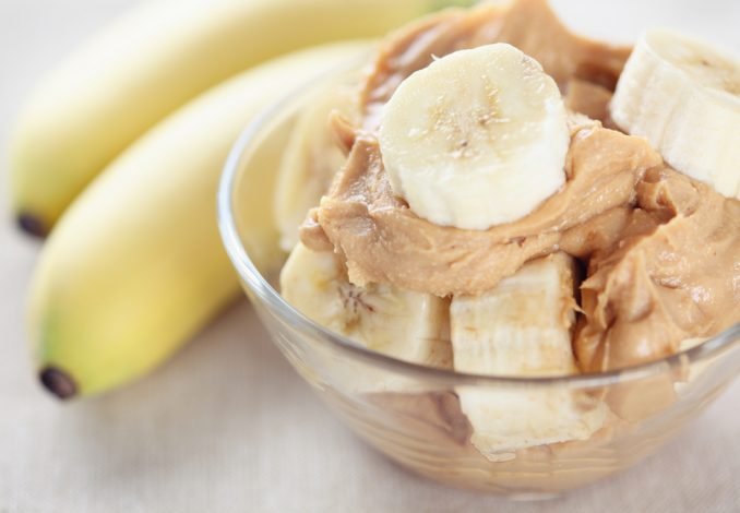 Banana with 2 Spoonfuls of Peanut Butter
