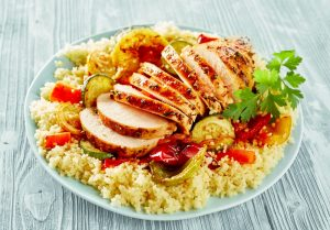 Chicken Couscous and Red Pepper
