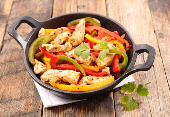 Chicken Fajitas with Peppers