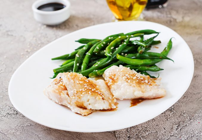 Cod, Mashed Potato and Green Beans