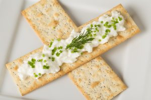 Cottage Cheese with Multiseed Flat Bread