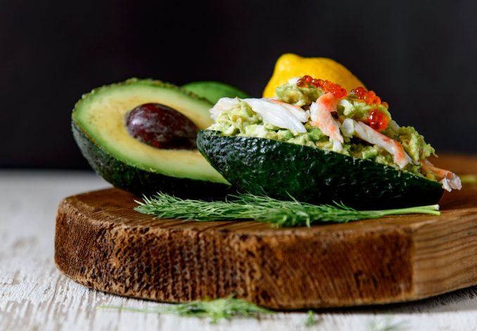 Crab Meat and Avocado with Pitta