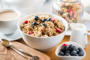 Crunchy Granola with Cherries and Berries