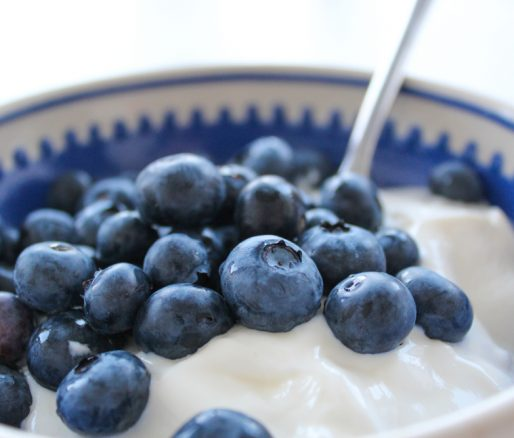 Greek Yoghurt with Blueberries and Pumpkin Seeds