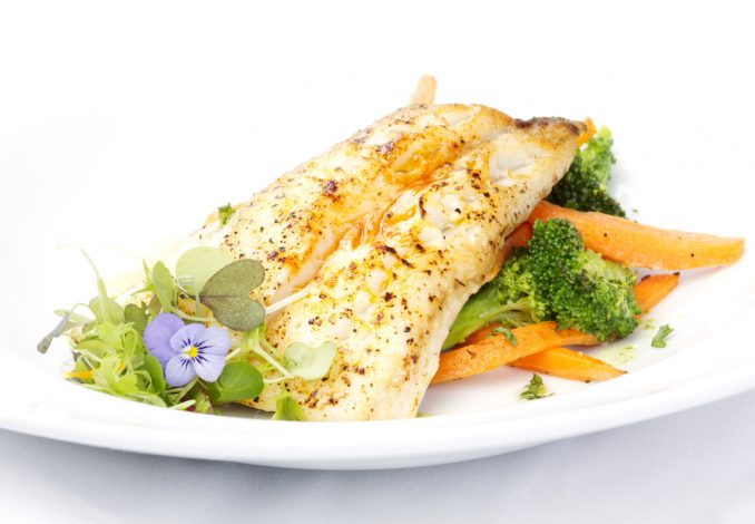 Grilled Haddock with Sweet Potato and Broccoli
