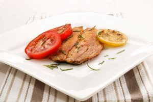 Grilled Kipper on Wholemeal Toast and Grilled Tomato