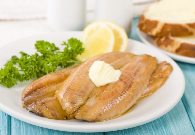 Grilled Kippers with Lemon and Gluten Free Toast