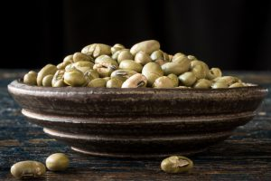 Handful of Roast Edamame Beans