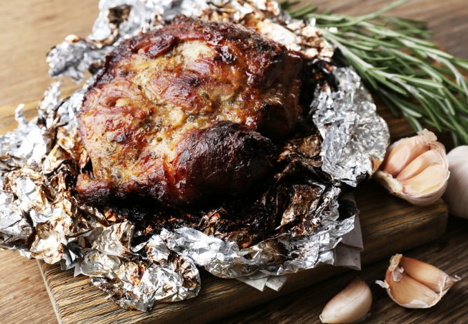 Lamb Steak with Baked Potato and Carrots