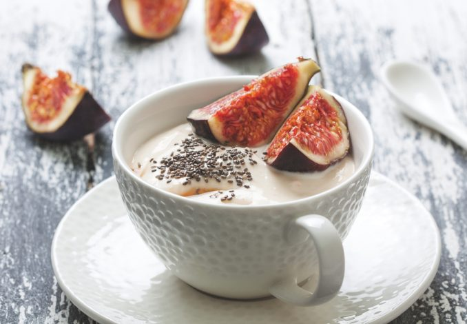 Natural Greek Yoghurt with Figs
