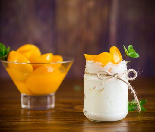 Natural Greek Yoghurt with Tinned Peaches