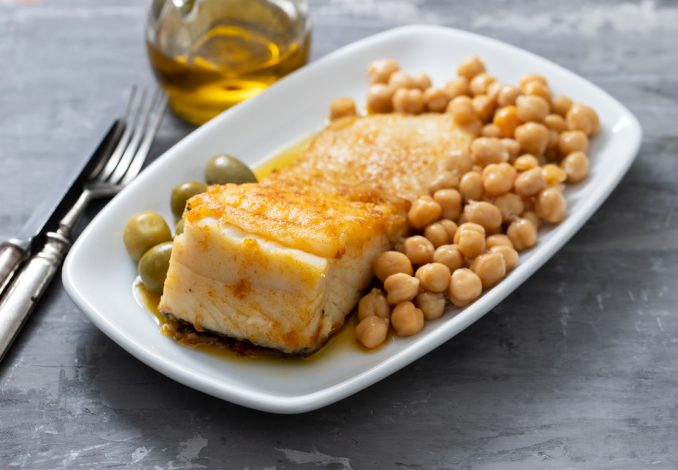 Paprika Cod and Chickpeas