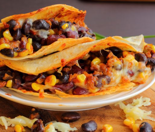Pitta Bread with Chilli Beans and Cheese
