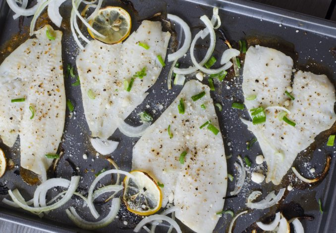 Plaice with Peas and Mashed Potato
