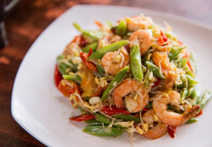 Prawn Stir Fry with Green Beans and Noodles
