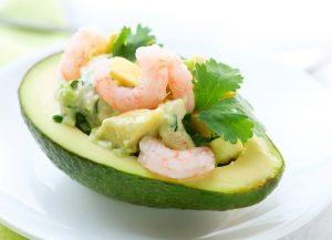 Prawns and Avocado