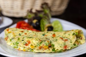 Red Pepper Omelette with Tinned Tomatoes