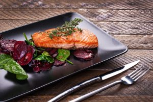 Salmon with Beetroot Salad