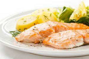 Salmon, Potato and Green Vegetables