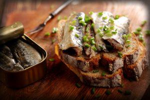 Sardines on Gluten-free Toast