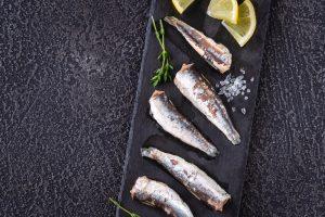 Sardines on Toasted Wholemeal Pitta