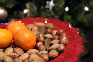 Satsuma with Handful Mixed Nuts