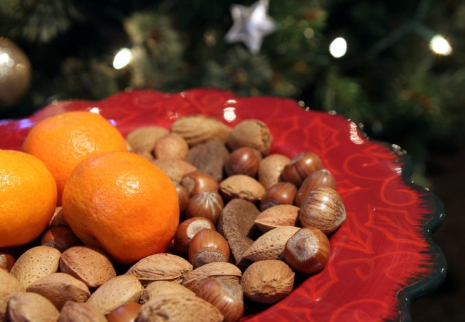 Satsuma with Handful Mixed Nuts