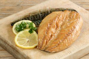 Smoked Mackerel Fillet with Lemon in Pitta