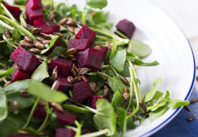 Spinach, Beetroot and Lentil Salad