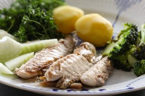 Tinned Mackerel with Baby Potatoes and Vegetables