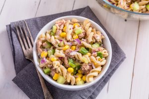 Tuna Pasta with Sweetcorn