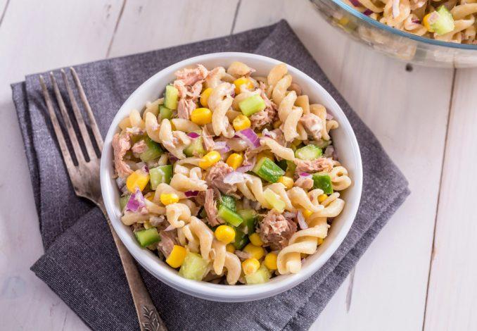 Tuna Pasta with Sweetcorn