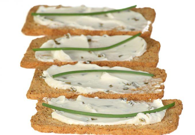 Cream Cheese on Melba Toast