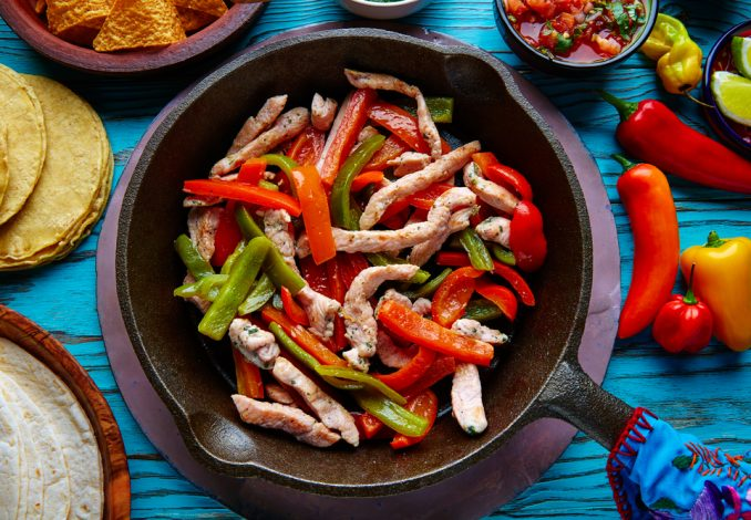 Extra Hot Mexican Chicken Fajitas