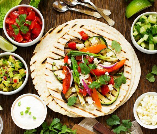 Fiery Mexican Vegetarian Fajitas