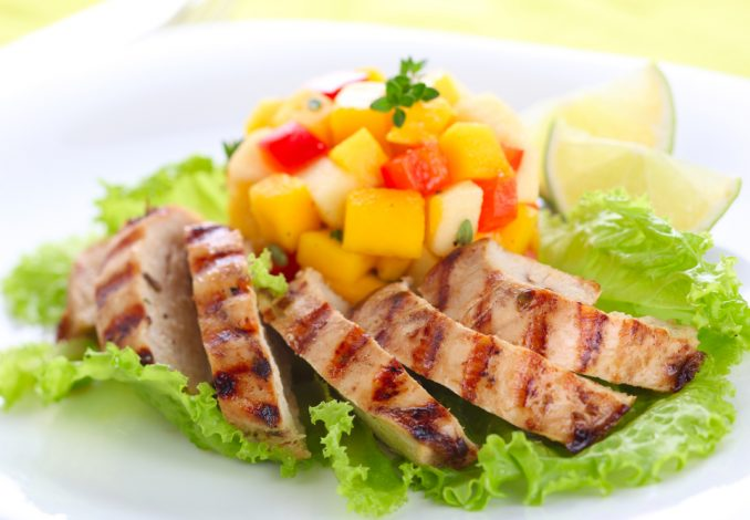 Grilled Chicken with Salsa