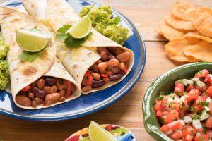 Mexican Bean and Hummus Wrap