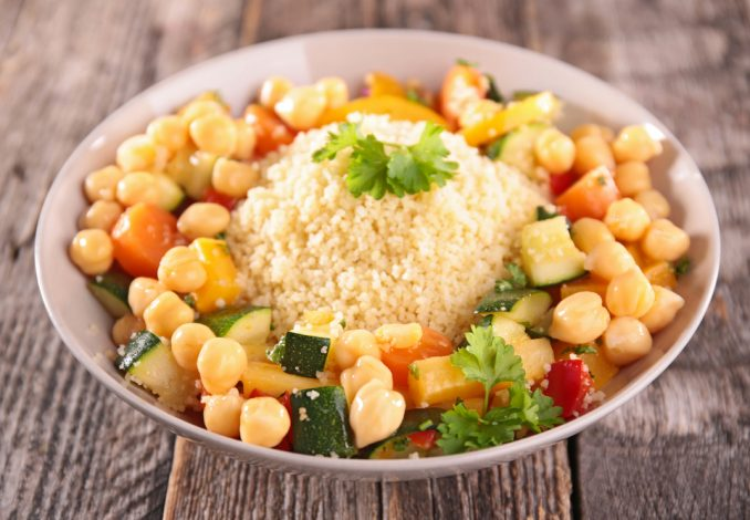 Mint Couscous and Chickpeas