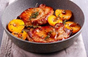 Pork Fillet & Peaches with Asparagus