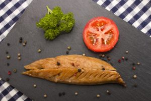 Smoked Mackerel with Spinach and Beetroot Salad