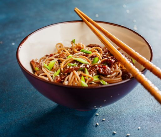 Spicy Beef and Vegetable Stir Fry with Noodles