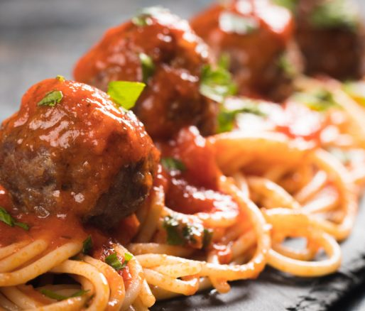 Spicy Meatball and Pasta