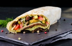 Steak Bean Wrap with Guacamole