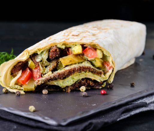 Steak Bean Wrap with Guacamole