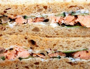 Tinned Salmon and Cucumber Sandwich with Mustard Mayonnaise