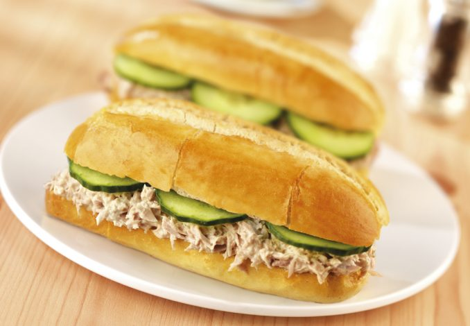 Tuna and Cucumber Baguette
