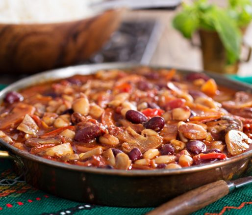 Hot Mexican Vegan Chilli Beans